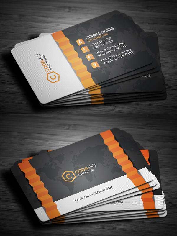 Modern Creative ZigZag BusinessCards