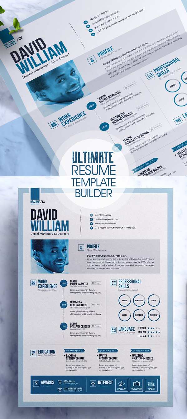 The Ultimate Professional Resume Builder 2018