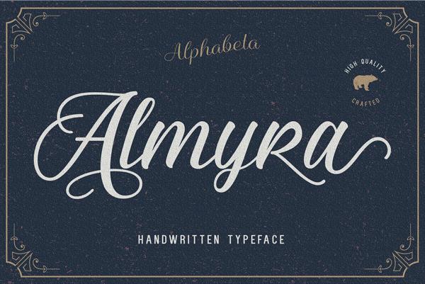 Almyra Script free fonts