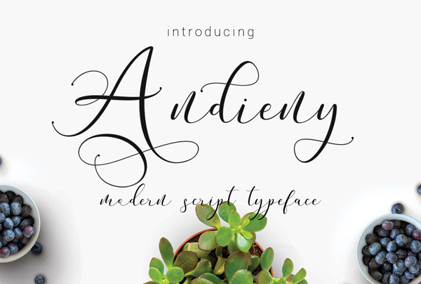 Andieny Script Free Font