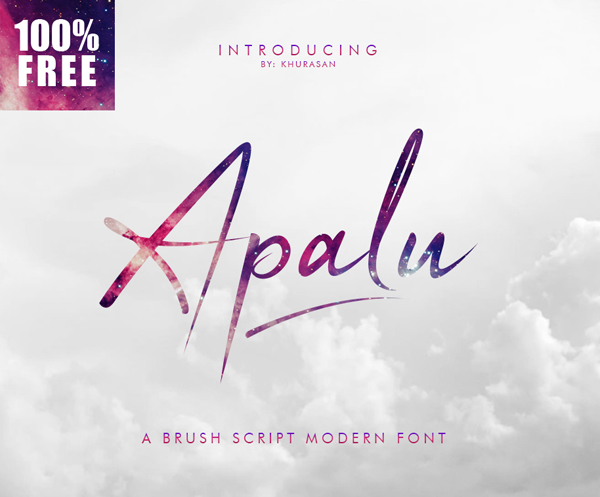 Apalu Brush Script free fonts