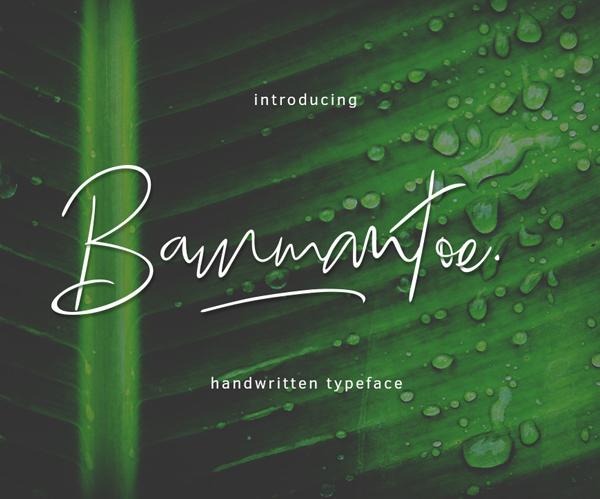 Bammantoe free fonts