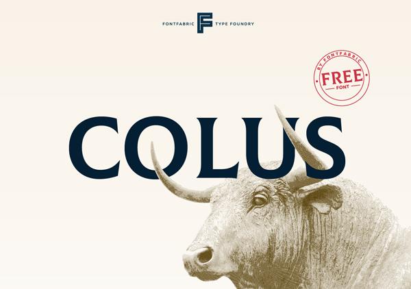 Colus Free Font