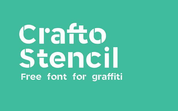 Crafto Stencil free fonts