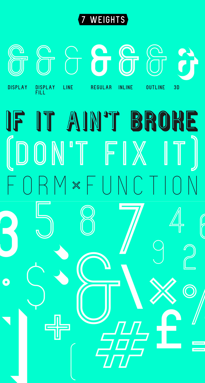 Fixer font letters