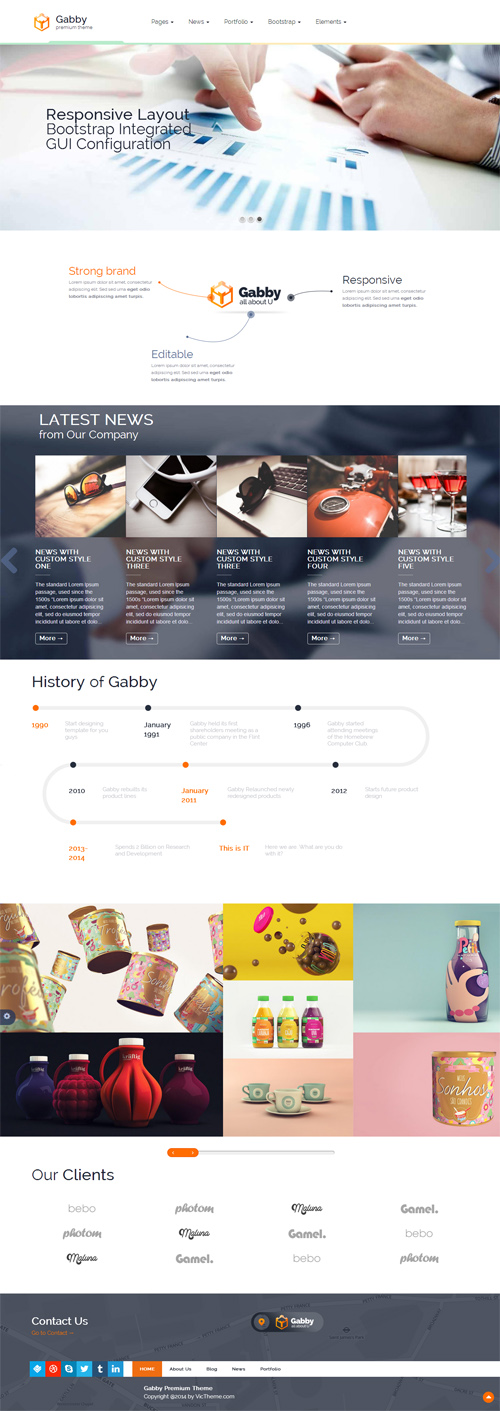 Gabby – Unique Multipurpose WordPress Theme