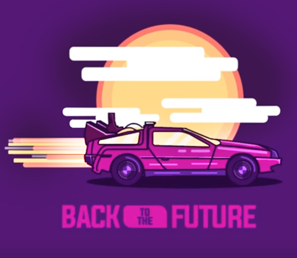 Create Back to the Future Illustration in Illustrator Tutorial