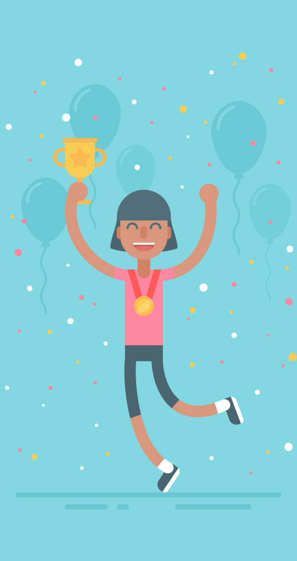 How to Draw a Celebrating Sporty Character in Adobe Illustrator