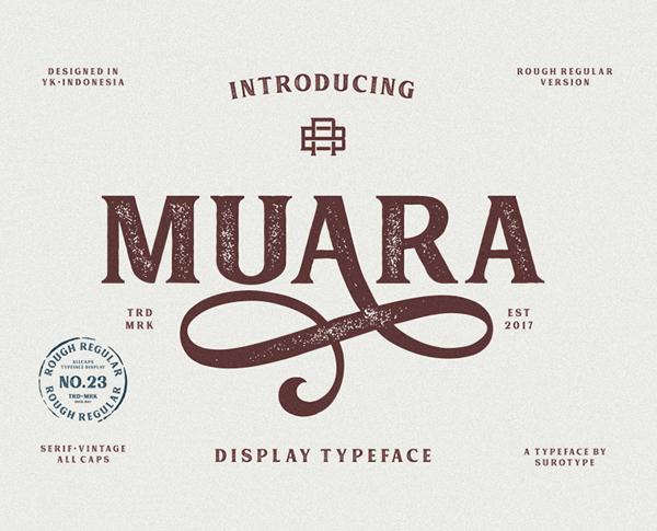 MUARA No.23 free fonts