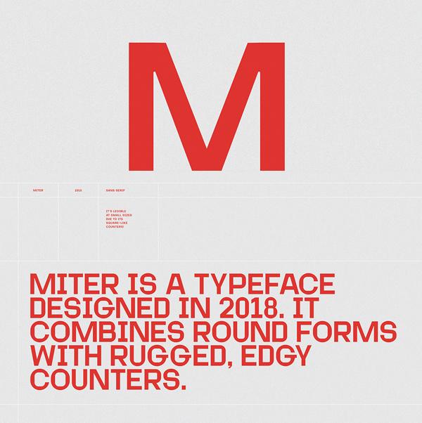 Miter Free Font