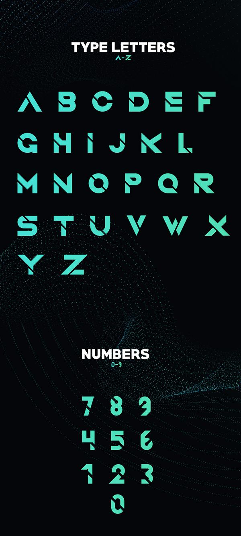 Quantum font letters