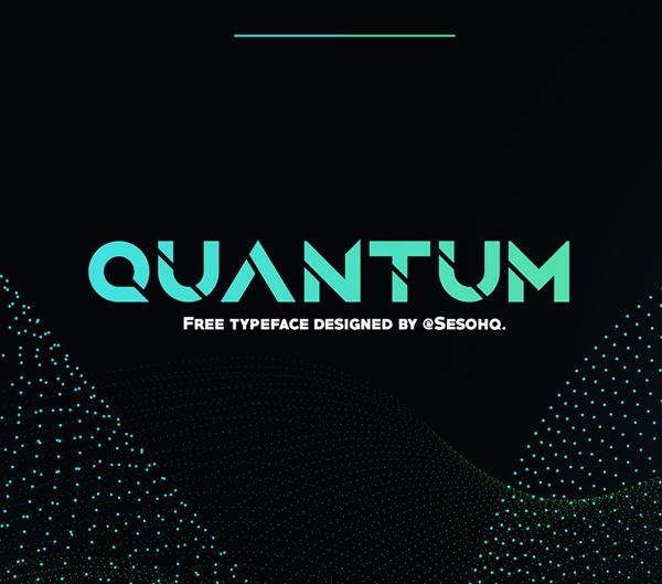 Quantum free fonts