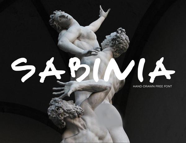 Sabinia free fonts