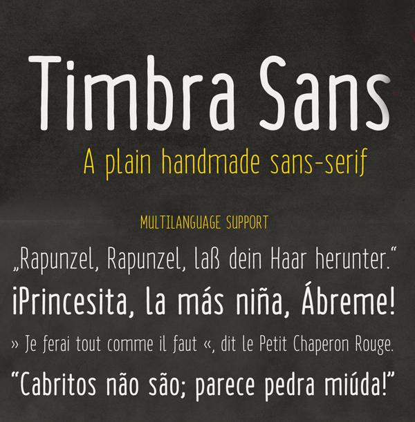 Timbra Sans free fonts