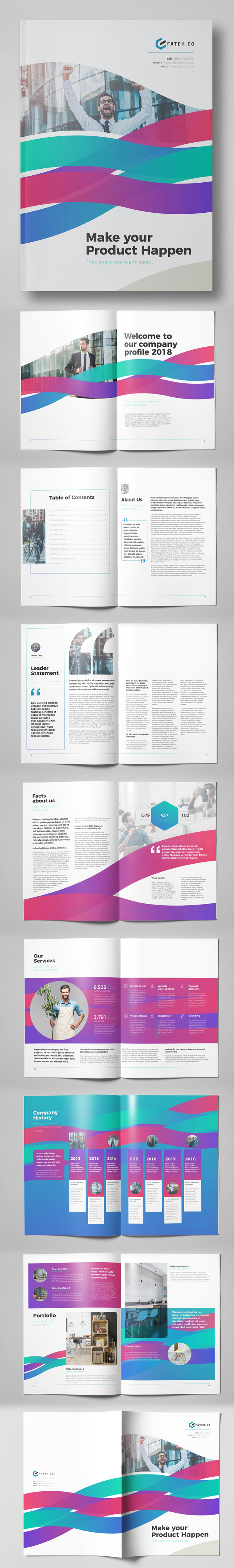 Creative Business Brochure Template (24 Pages)