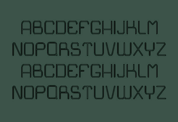 Easy Outline Font Letters and Numbers