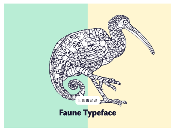 Faune - A free font inspired to the animal world
