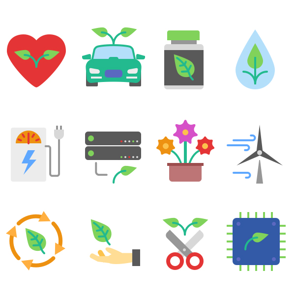 Free Ecology Icons Set