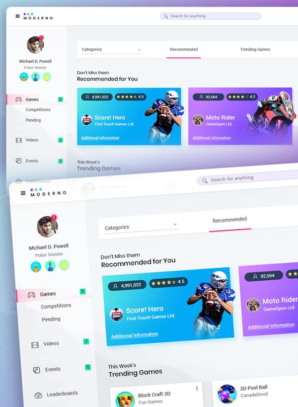 Free Modern Web Dashboard UI