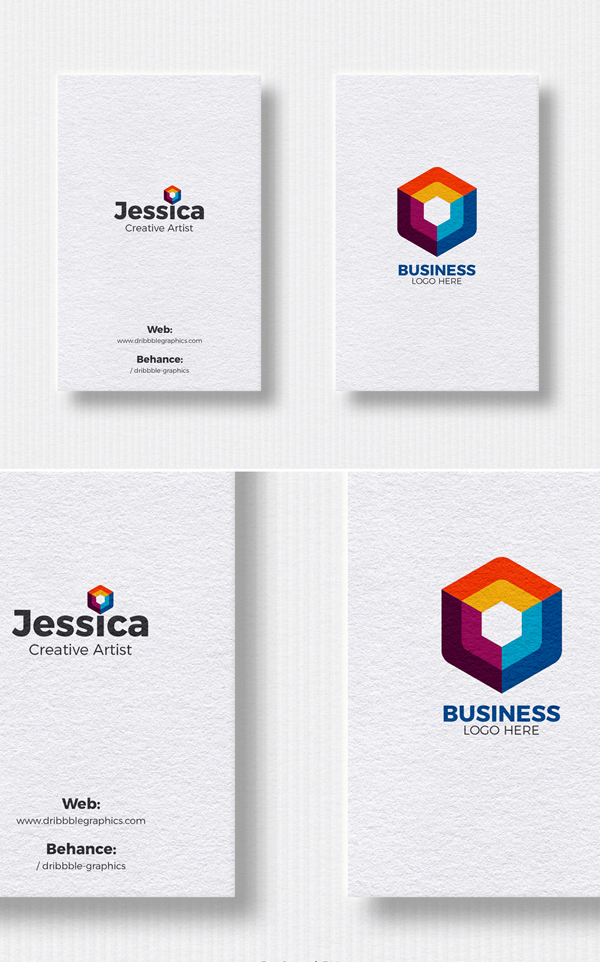 Free Vertical Business Cards Mockup For Designers