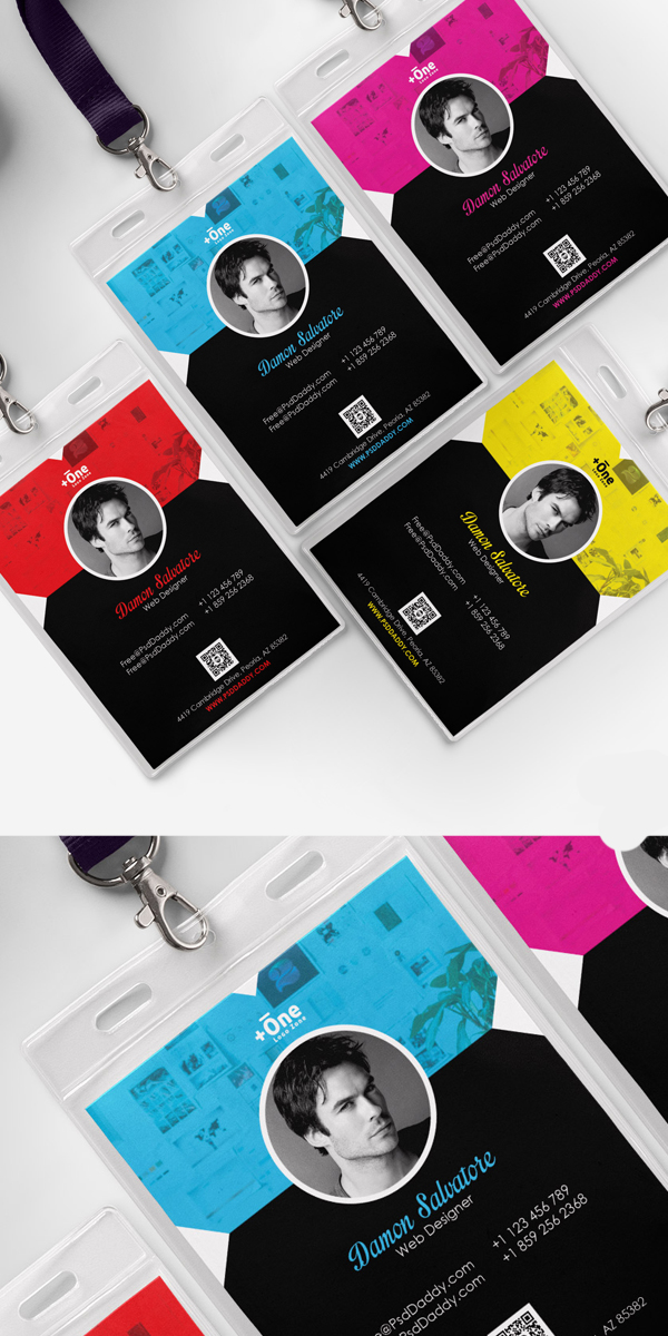 Free Corporate Identity Card Template PSD Bundle