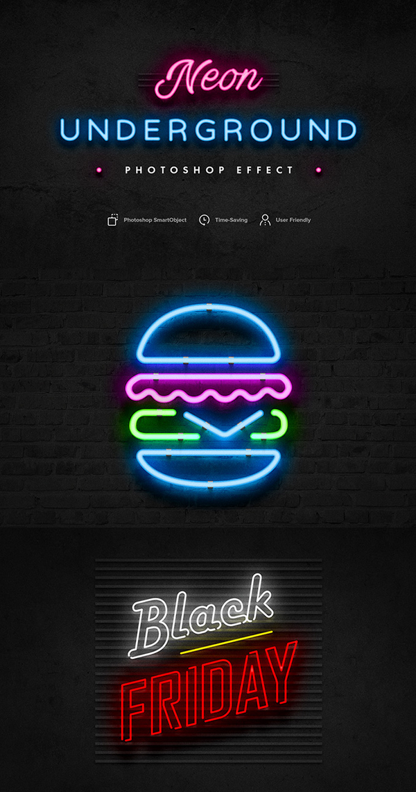 Neon Underground PS Effect Free Download