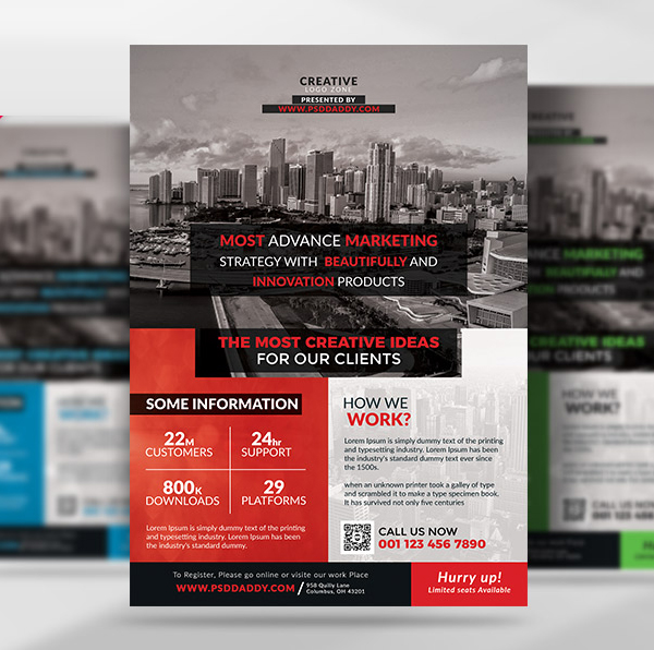 Free Multipurpose Corporate Flyer Template Set