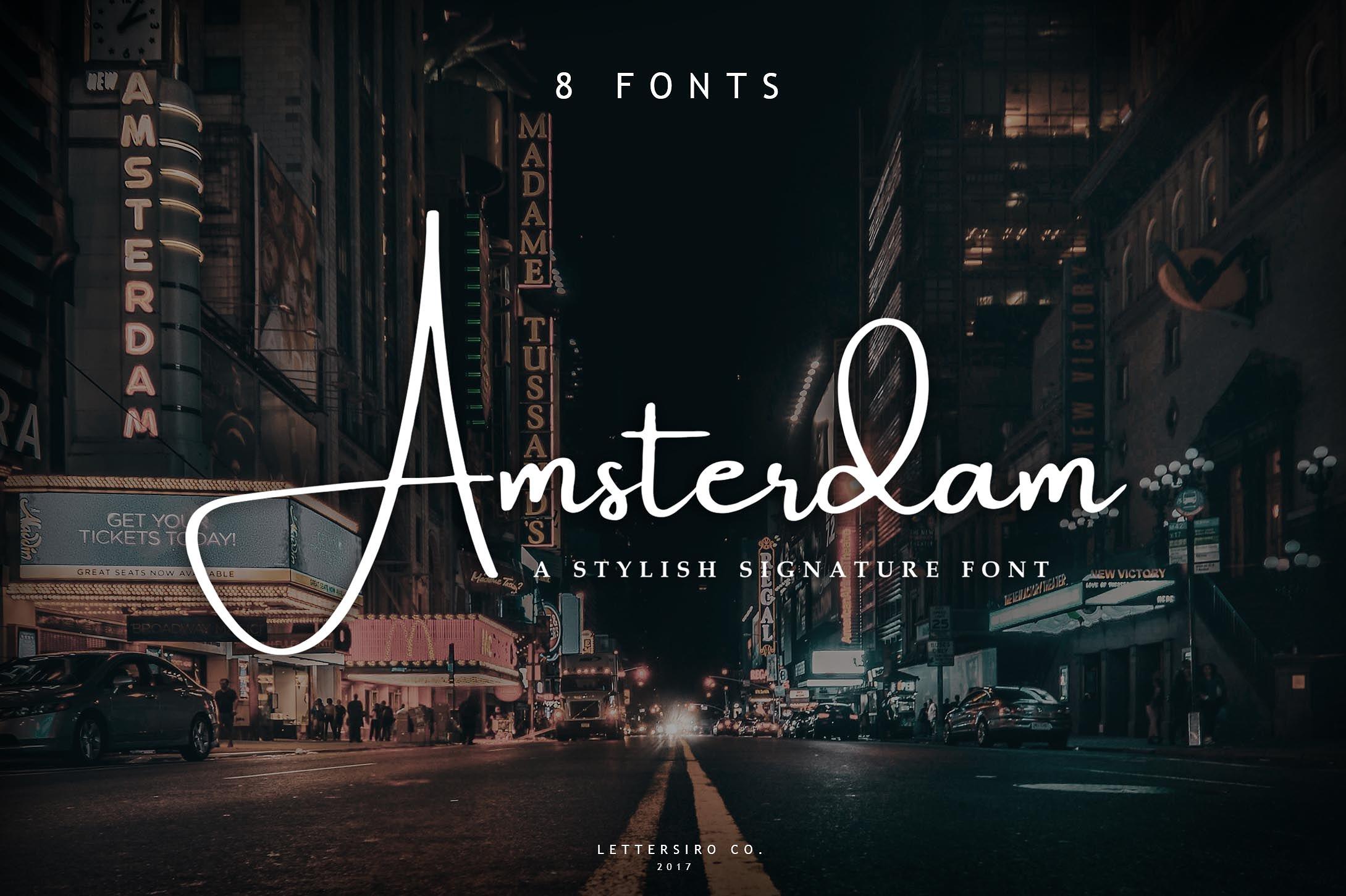 handwritten font amsterdam