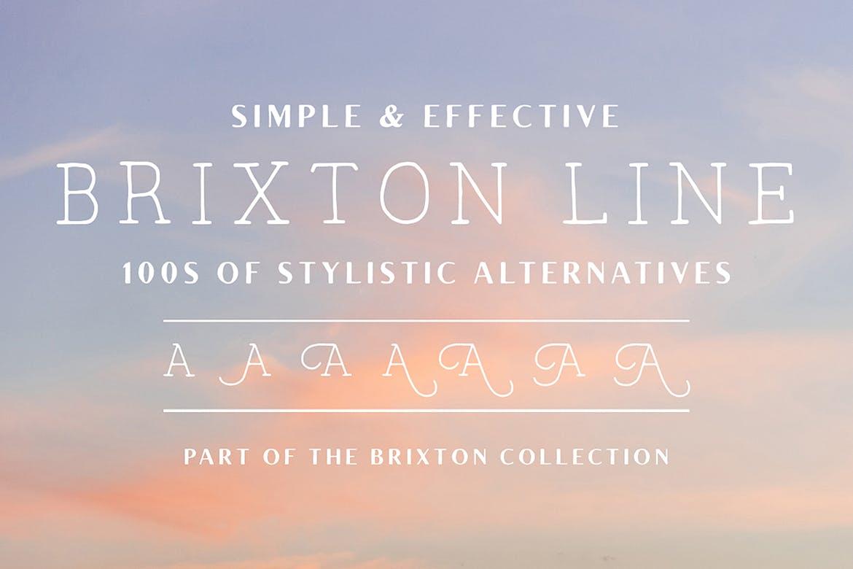 handwritten fonts brixton line