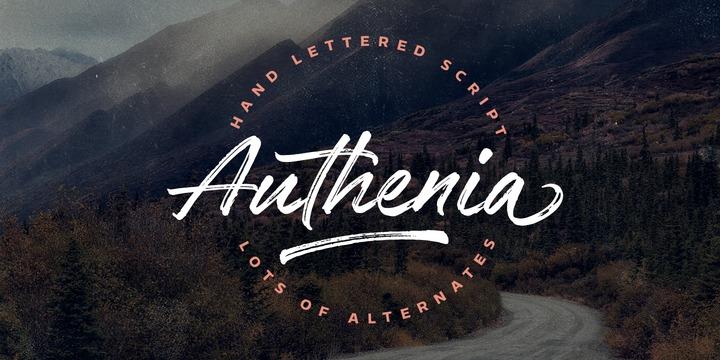 handwritten fonts authenia