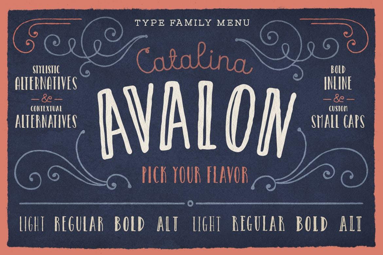 handwritten fonts catalina avalon
