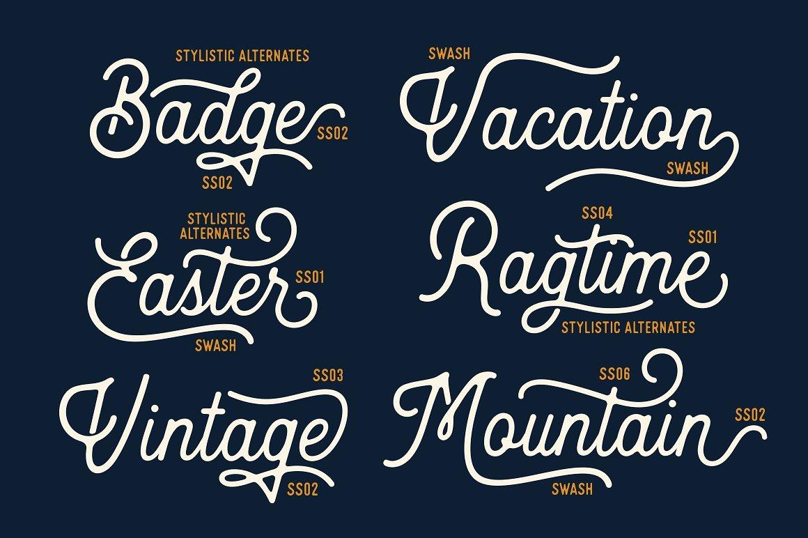 handwritten fonts heritage