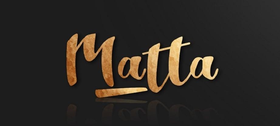 handwritten font matta