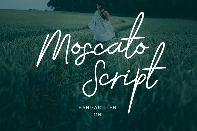 handwritten fonts moscato script