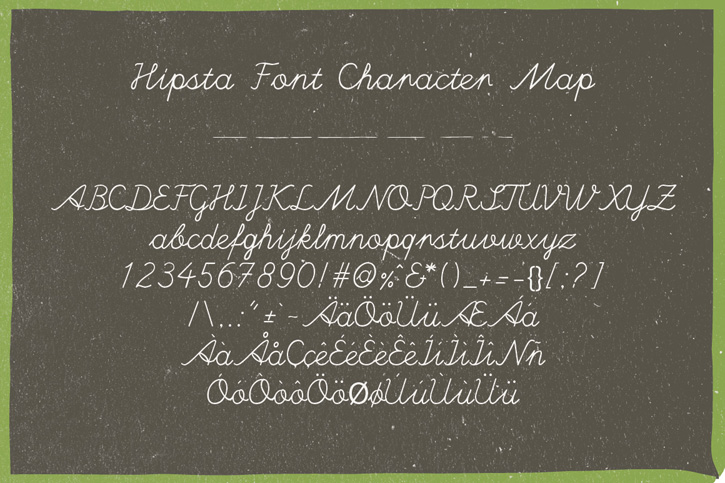handwritten font hipsta