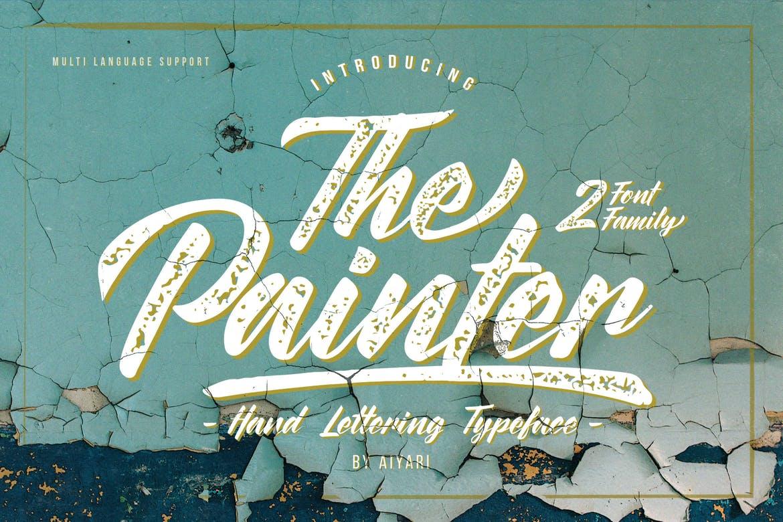 handwritten font the painter