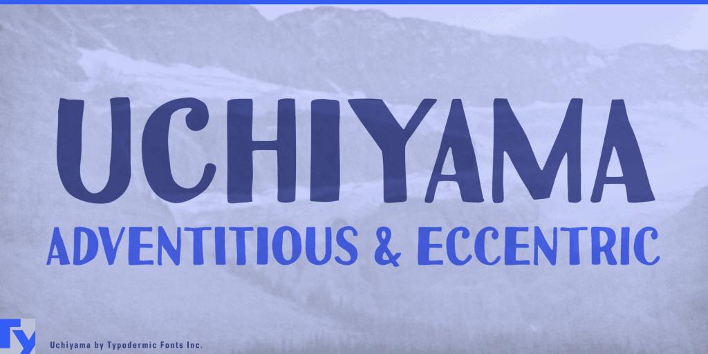 modern handwritten fonts uchiyama