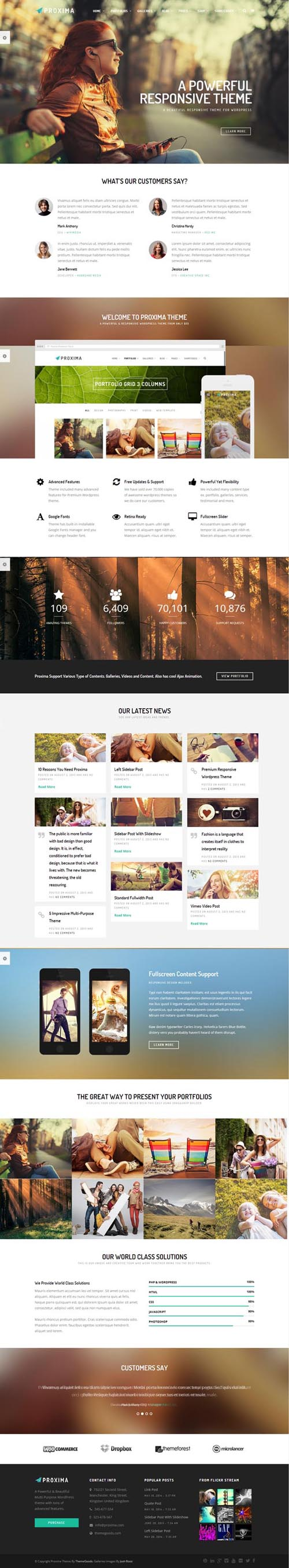 Proxima Responsive Business Multi-Purpose Theme