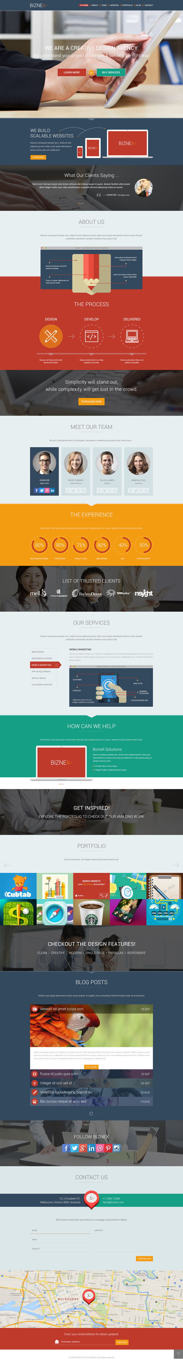 BizNex – Multi-Purpose Parallax WordPress Theme