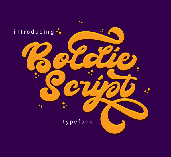 Boldie Script Typeface Free Font