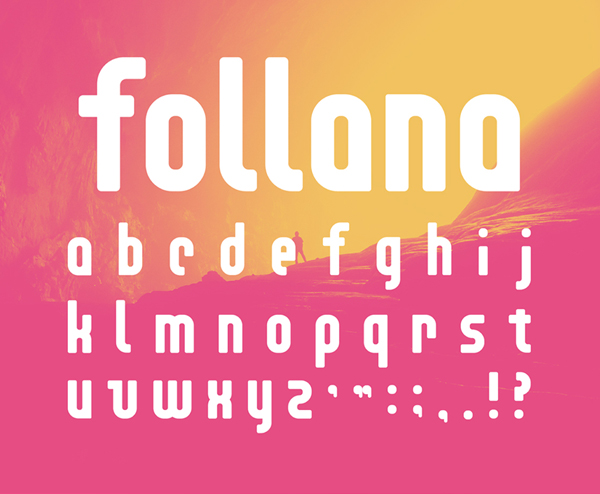 Follana Free Font Letters and Numbers