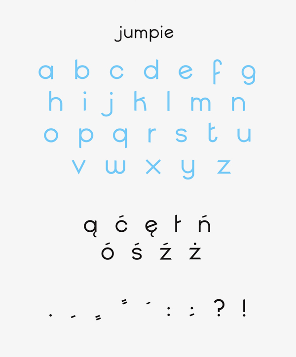 Jumpie Free Font Letters and Numbers