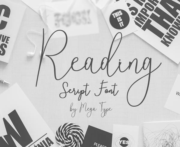 Reading Free Font