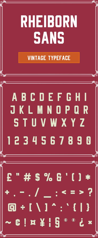 Rheiborn Sans Free Font