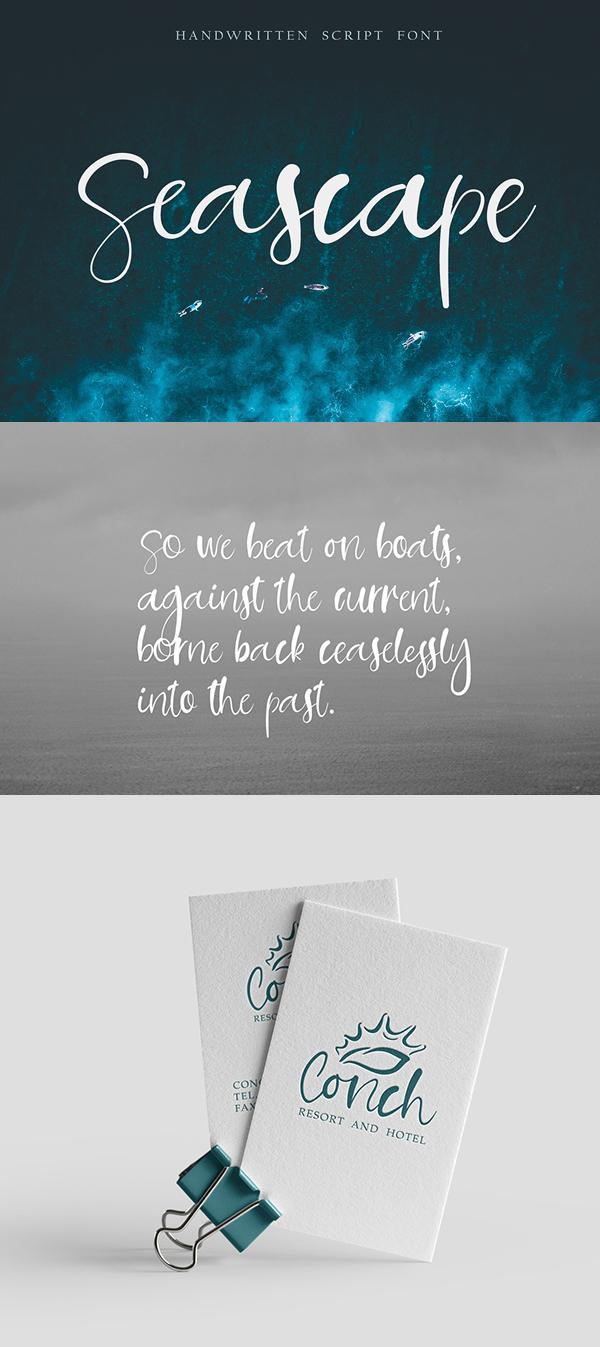 Seascape Handwritten Script Free Font