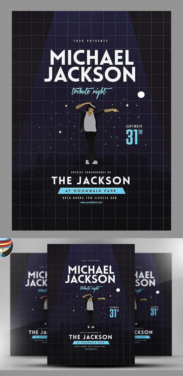 Michael Jackson Tribute Night Flyer