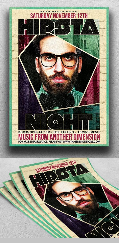 Hipsta Night Flyer Template