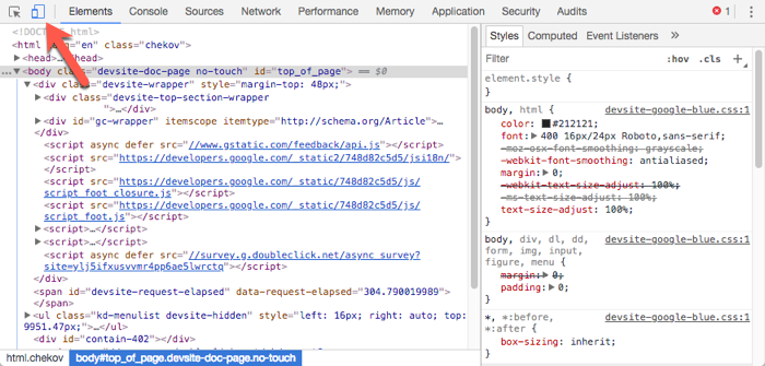 how to open developer tools in chrome mac