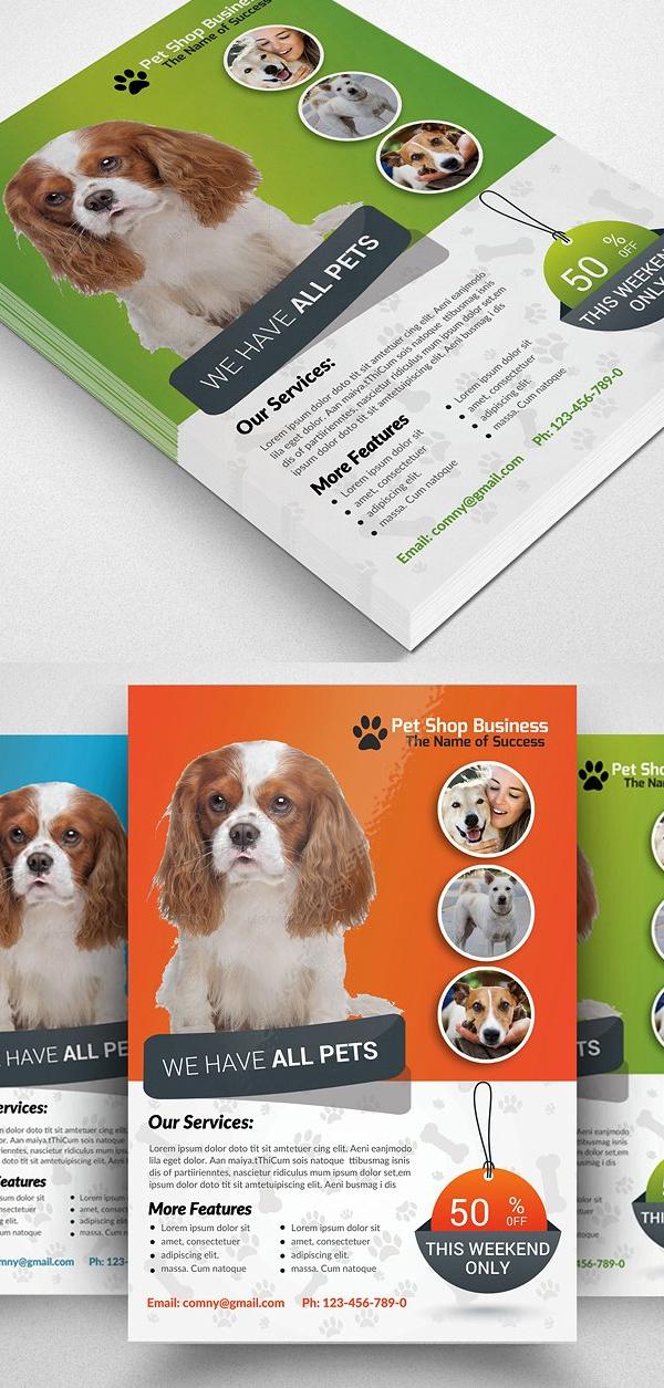 Pet Shop Business Flyer Template