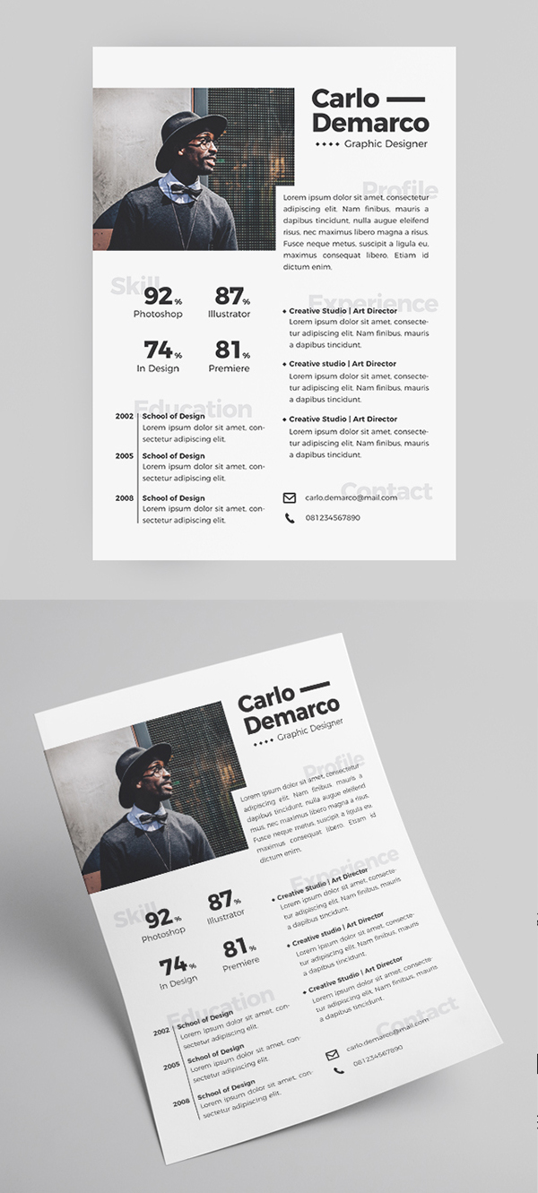 Freebie: Short Free Resume Template